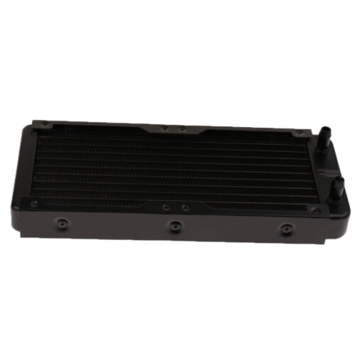 "PC Radiator Water Cooling Row for CPU Heatsink 240mm G1//4/"" Straight mouth"