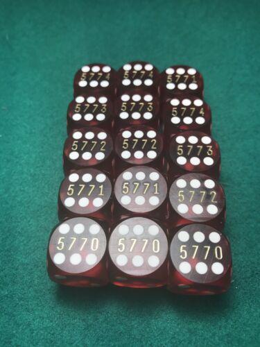 Precision Red 5//8 Inch Backgammon Dice