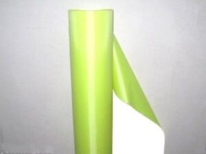 """3' Wide Fluorescent yellow REFLECTIVE FABRIC sew material 3'x20"""" #M1030 QL"""