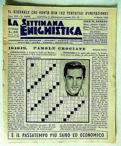 La-settimana-enigmistica-n-1510-del-4-marzo-1961-Jacques-Bergerac