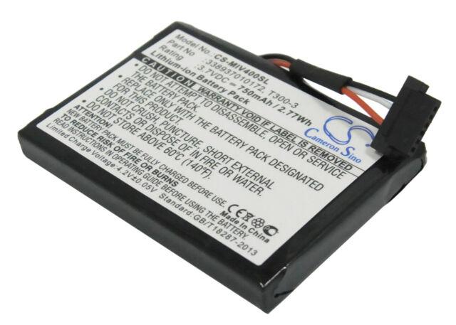 338937010172 T300-3 750mAh Battery for Mitac Mio Moov 400 405