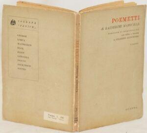 KATHERINE-MANSFIELD-POEMETTI-POEMI-GILBERTO-ALTICHIERI-SECONDA-EDIZIONE-1943