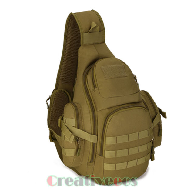 New Men Waterproof Nylon Tactical Travel Hiking Messenger Back Pack Chest Bag