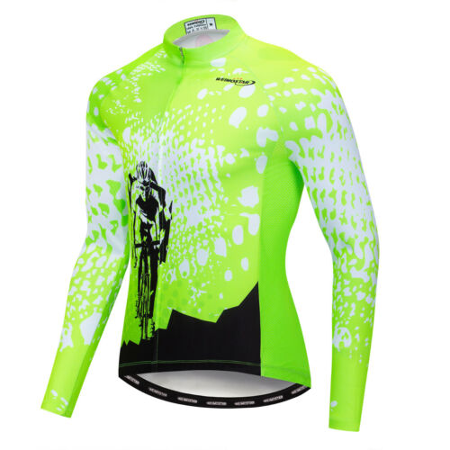Men/'s Cycling Jersey Bike Clothing Bicycle Winter Wheel Long Sleeve Top Jacket