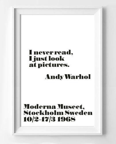 plusieurs tailles poster moderne i never read article de decoration