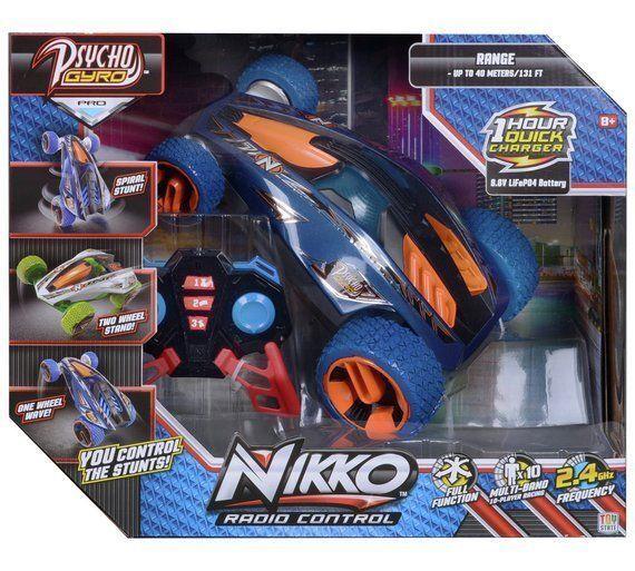 Nikko Radio Controlled Full function Psycho Gyro Stunt 360 Spins Car Pro New
