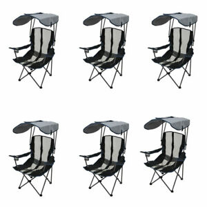 Kelsyus-Premium-Portable-Camping-Folding-Lawn-Chair-with-Canopy-Navy-6-Pack