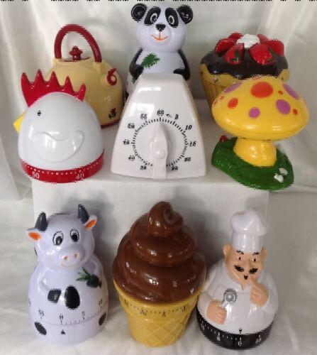 """Cup Cake mechanical 60 minute timer no batteries required 3/"""" tall shower favor"""