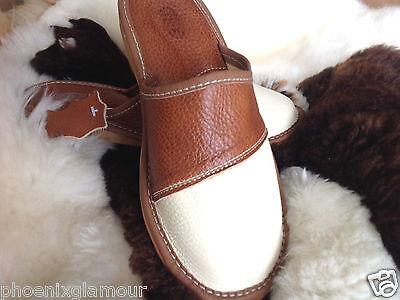 Nuevas damas De Cuero Zapatillas Zapatos Talla 3 4 5 6 7 8 9 Flip-Flop mulas Ortopédico