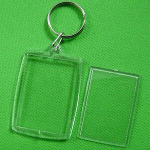 5-10Pcs-Transparent-Blank-Insert-Photo-Picture-Frame-Key-Ring-Chain-ATAU