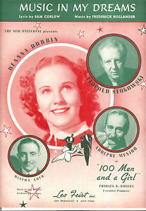 "100 Men & A Girl Notenblatt Musik In My Deams "" Deanna Durbin Stokowski Kunden Zuerst Noten & Songbooks Musikinstrumente"