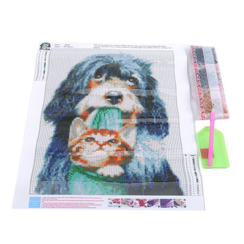DIY 5D Cat Dog Animals Diamond Painting Embroidery Cross Stitch Home Decor CB