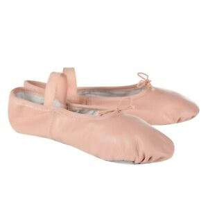 Pink-Leather-Ballet-Shoes-Full-Sole
