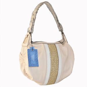 Simply-Vera-Wang-Leather-Hobo-Purse-Handbag-Bone-Color