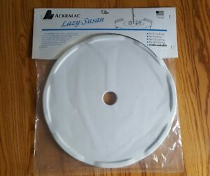 Details About 18 White Outdoor Ackralac Rotating Turntable Lazy Susan For Umbrella Table New