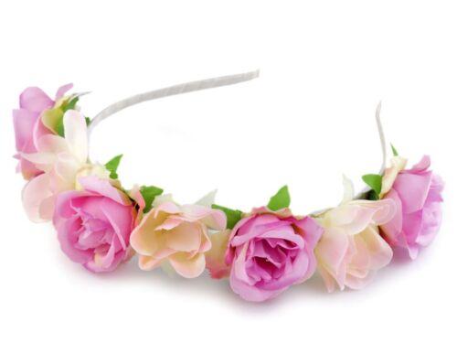 Haarreifen Armband Haarschmuck Rosen Rosenschmuck Haarschmuck Hochzeit Kommunion