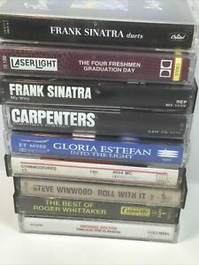 vintage music cassette tapes, lot of 10 easy listening,
