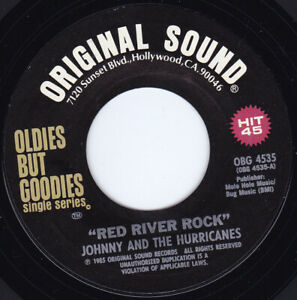 """JOHNNY & THE HURRICANES - Red River Rock 7"""" 45*"""