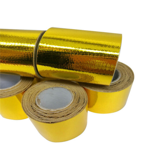50mm 5m Roll Adhesive Reflective Heat Shield Wrap Tape Wrapping Thermoshield
