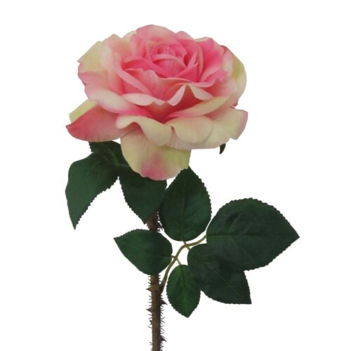 Seidenblume DUNKELROSA ROSE Ca 60 cm 2016001-12 Kunstblume Rosen 1 Stück