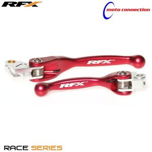 RFX-FLEXIBLE-BRAKE-amp-CLUTCH-LEVER-SET-RED-HONDA-CRF150-2018-FXFL10000
