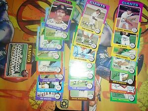 1974-1975-Topps-Baseball-Lot-46-Cards-Giants-Poor-Ex-Cond
