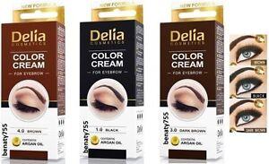 Delia Cosmetics Eyebrow color cream - Brow dye - eyebrow ...