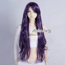 Lolita Dark Purple Long 80CM Wavy Fashion Party Women Cosplay Wig + Wig Cap