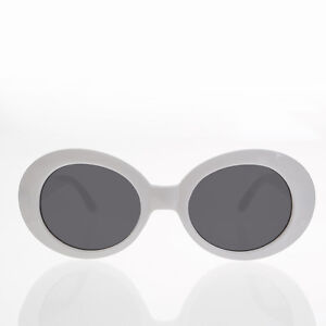 27ffceae4db Image is loading White-Oval-Clout-Sunglasses-Thick-Frame-Nirvana-Sunglass-
