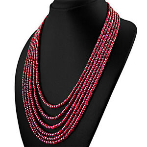 RARE-589-15-CTS-NATURAL-RICH-RED-RUBY-6-STRAND-ROUND-FACETED-BEADS-NECKLACE-RS