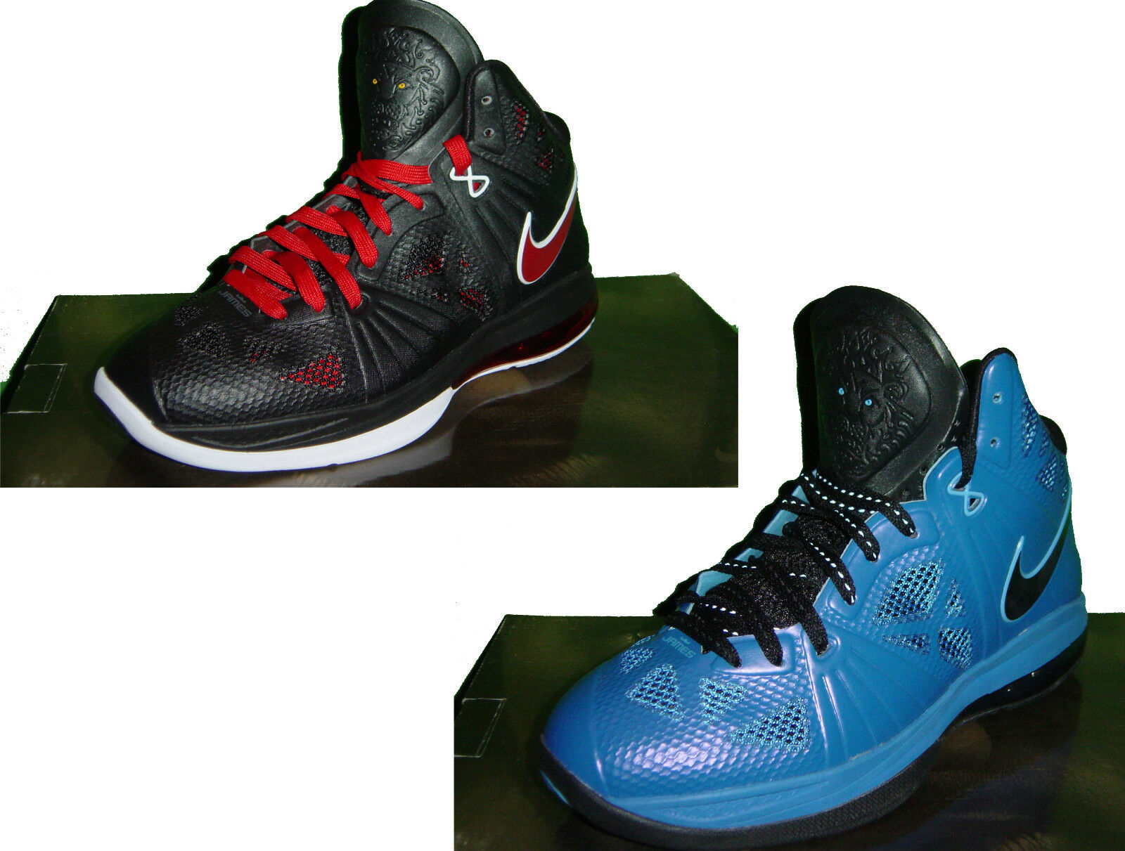 ORIGINAL MENS HYPERFUSE NIKE LEBRON 8 P.S HYPERFUSE MENS BASKETBALL TRAINERS BLACK/BLUE ec8929