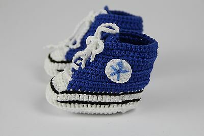 Gehäkelte Baby Schühchen Chucks Handmade Crochet for Newborn and Babys