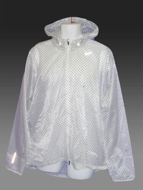 NIKE CYCLONE VAPOR Men's Running Cycling Rain Jacket ultra-lightweight White XXL