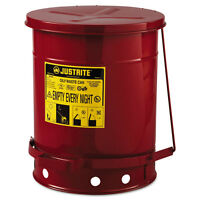 Justrite Red Oily Waste Can 10gal Lever Lid 09300 on sale
