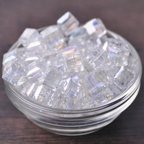 Wholesale 10pcs 10 Mm à Facettes Cube Crystal Glass Loose Beads À faire soi-même Jewelry Making