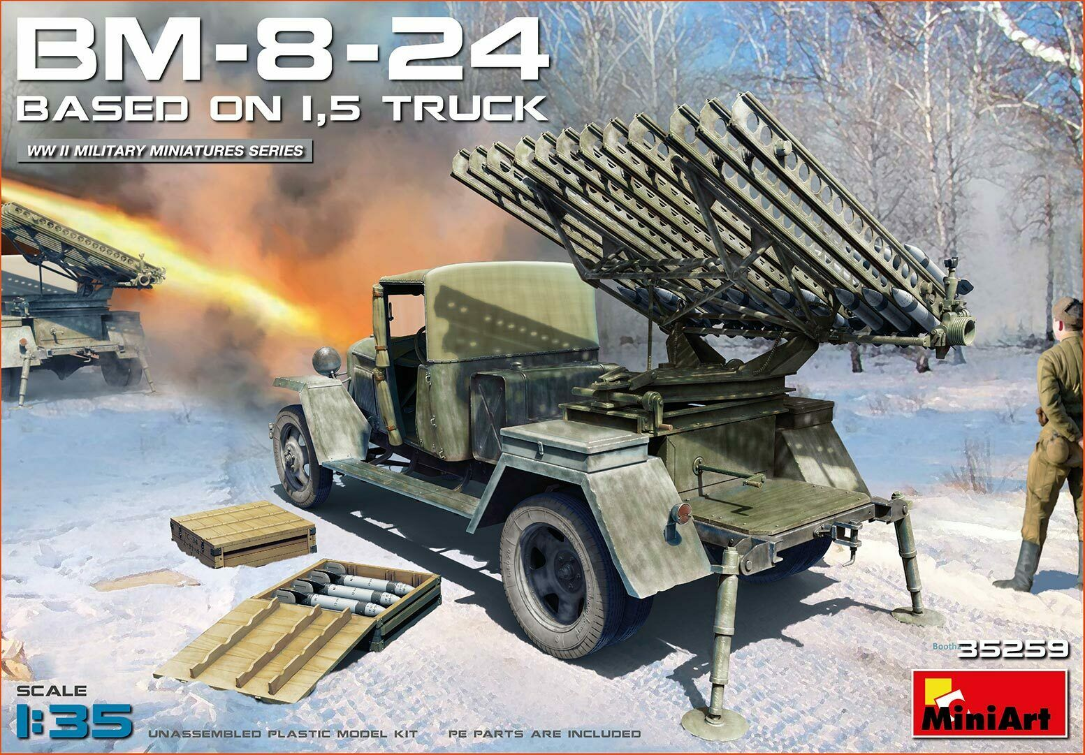 Miniart 1 35 Bm-8-24 Basato su 1.5t Camion