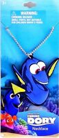 Disney Pixar Finding Dory Movie Necklace Blue Tang Fish Super Cute
