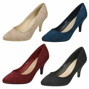Ladies-F9643-Microfiber-Pointed-Toe-Court-Shoe-By-Spot-ON-19-99