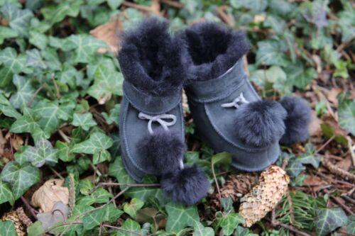 Baby lammfellschuhe-niños gordos real fell zapatos para niños zapatillas de casa