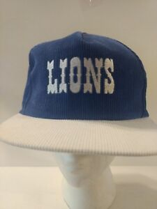 03475732151 Image is loading NOS-Vintage-Starline-NFL-Detroit-Lions-Corduroy-Snapback-