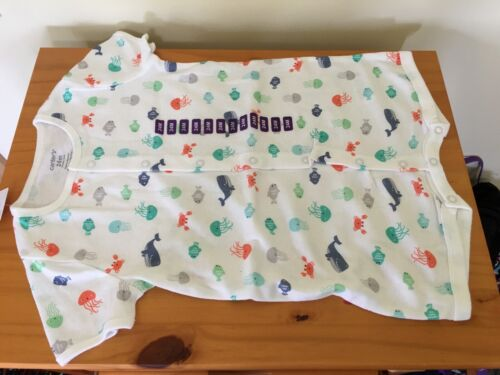 NWT Carter/'s Baby Boy Knit Romper White Jellies Fish,Whale