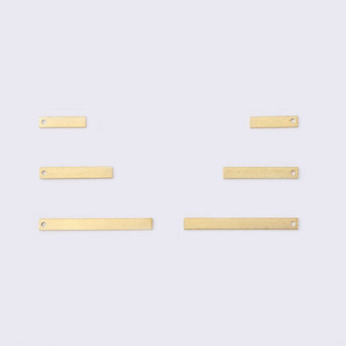 30Pcs Raw Brass Rectangle Charms Pendants For Jewelry Necklace Earring Making