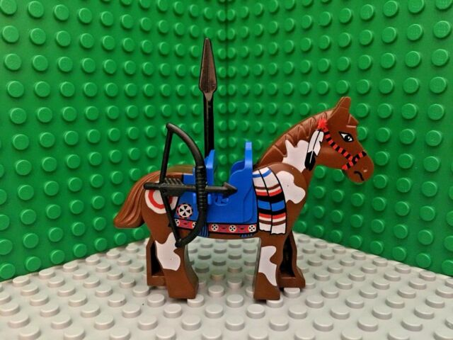 LEGO Western Brown Indian Horse Minifigure 6748 6746 6766 6763 w/ Saddle & more!