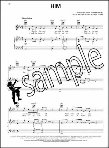 Sam Smith The Thrill Of It All Piano Vocal Guitar Sheet Music Book Burning Scars