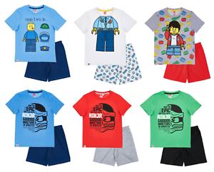 Ninos-Chicos-Con-Licencia-Oficial-Varios-Lego-Manga-Corta-Verano-Pijamas-Pjs