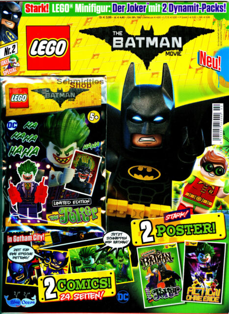 LEGO ® The Batman Movie magazine Nº 01//17 et 02//17 Limited Edition!