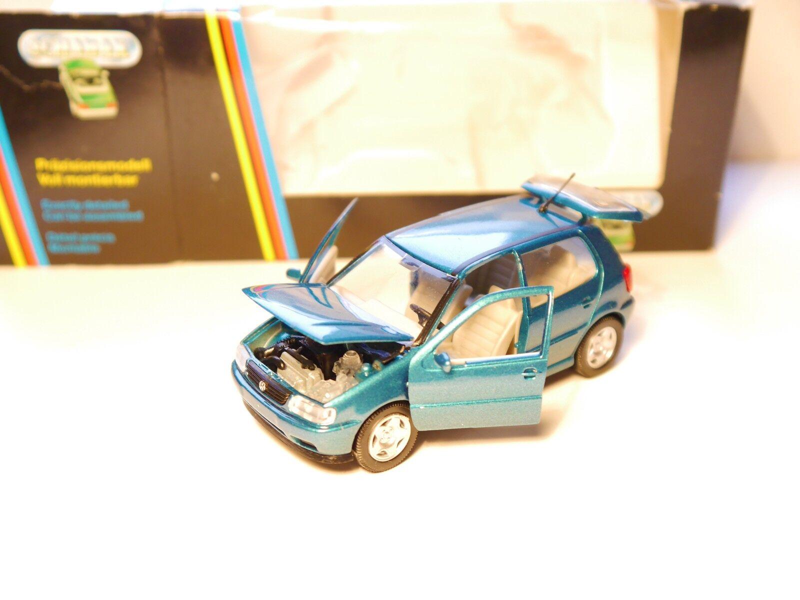 Volkswagen VW Polo Type 6n 5 porte en vert vert metallic, SCHABAK en 1 43 en boîte