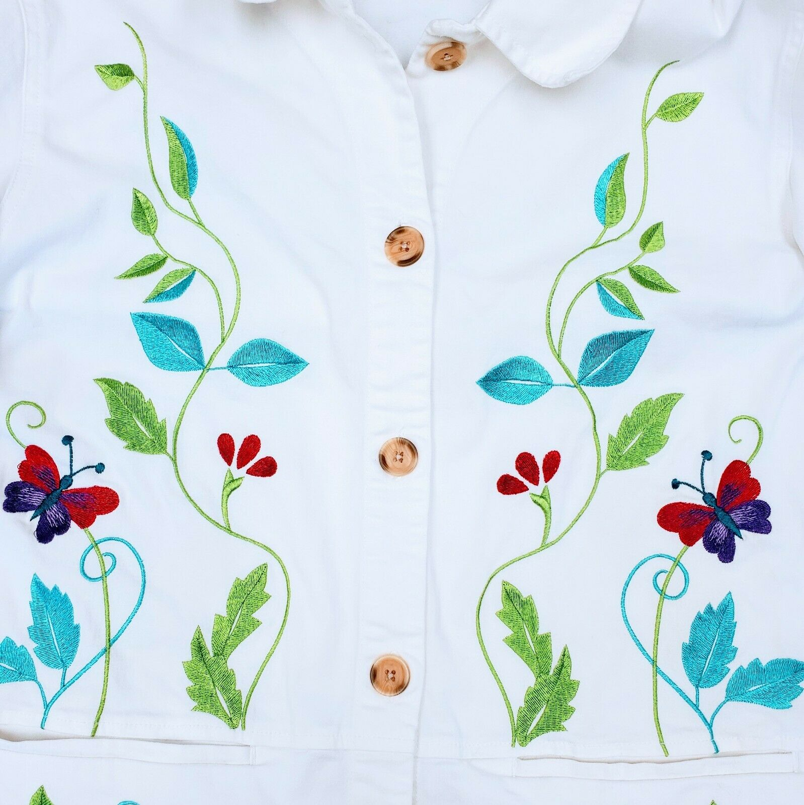 DENIM & CO. Embroidered Cotton Jacket please see … - image 3