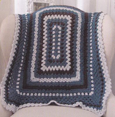 Crochet Pattern ~ RECTANGULAR SAMPLER AFGHAN ~ Instructions