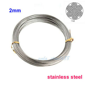 2mm Wire Rope (7x19) Stainless Steel Wire Rope Cable Price Per Metre ...